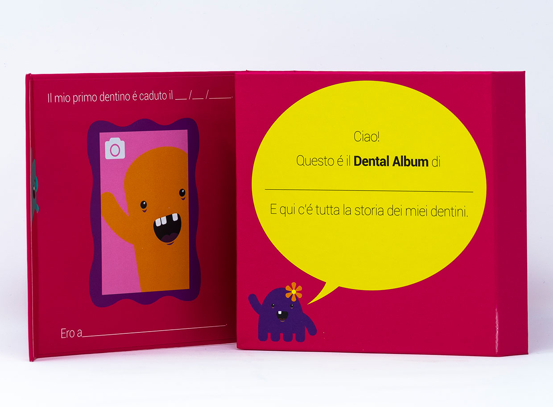 Angie Dental Album Porta Denti da Latte - Vari Colori