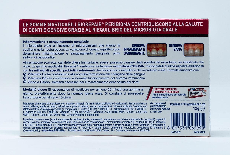 Biorepair Gomme Masticabili Peribioma – 10 pz.