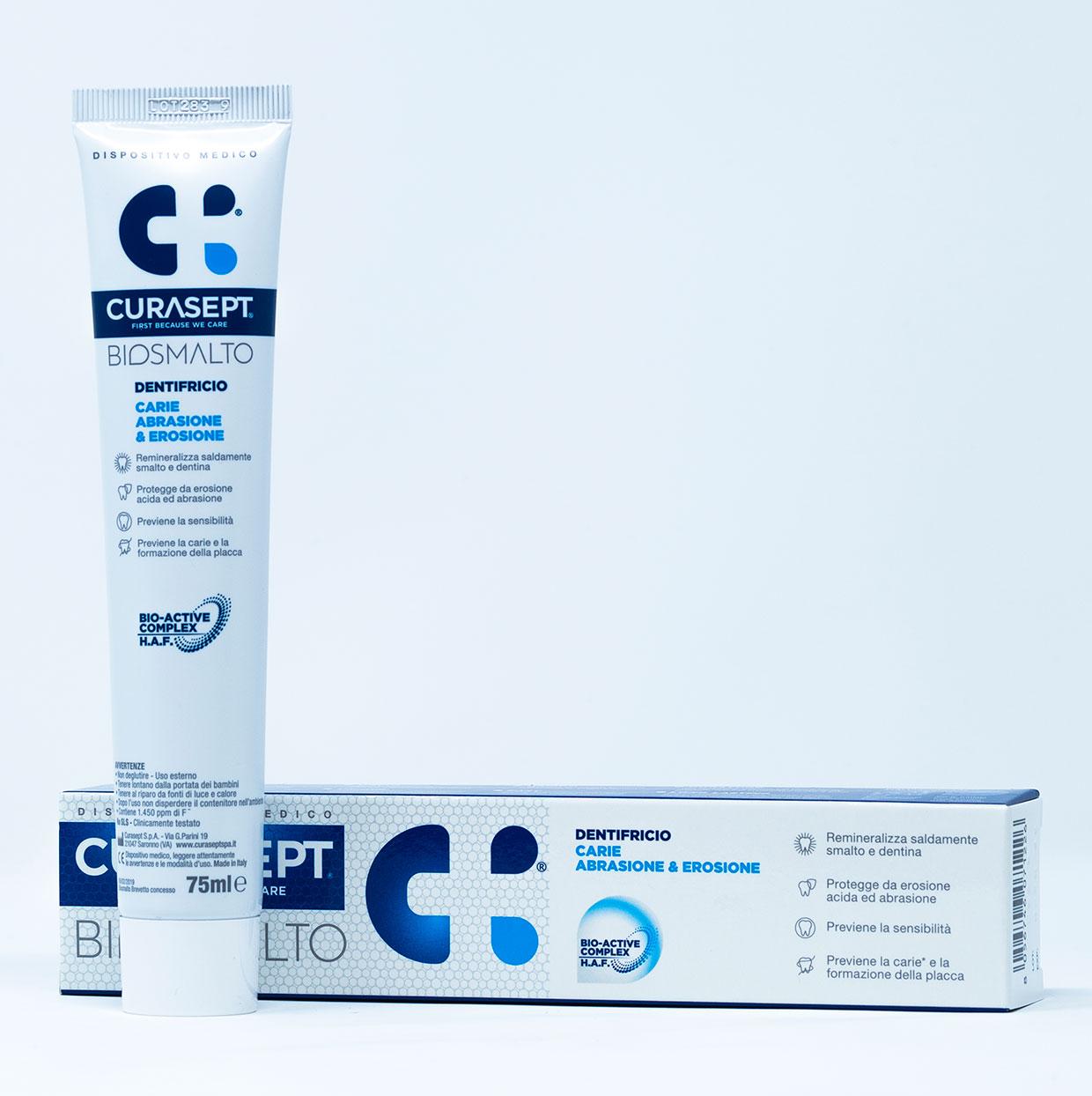 Curasept Biosmalto Dentifricio Carie, Abrasione, Erosione – 75 ml