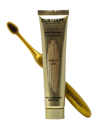 Curasept Dentifricio Gold Luxury + Spazzolino