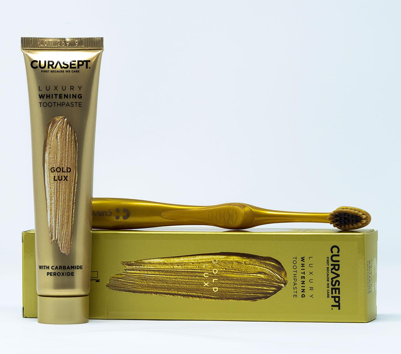 Curasept Dentifricio Gold Luxury + Spazzolino