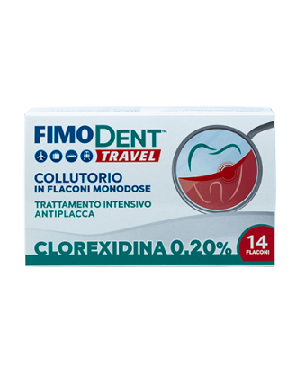 Fimodent Collutorio Travel Clorexidina 0,20 % - 14 pz x 10 ml