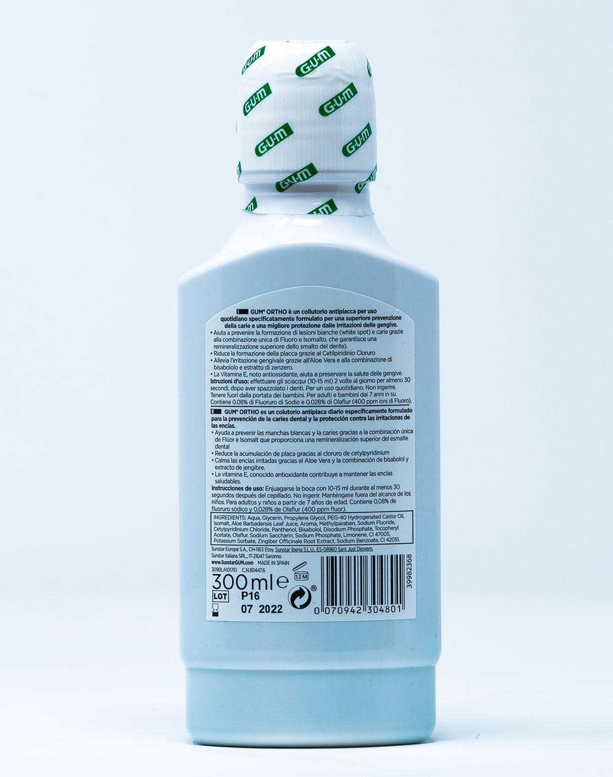 Gum Collutorio Ortho – 300 ml