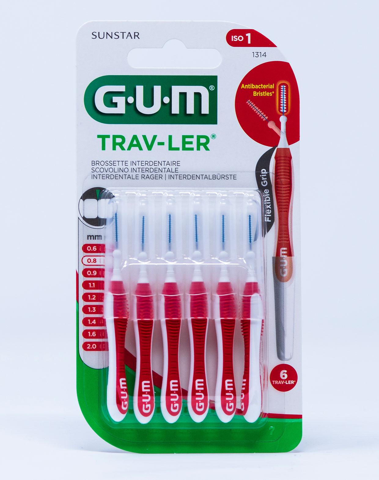 Gum Scovolino Trav-Ler ISO 1 – 0,8 mm | 1314