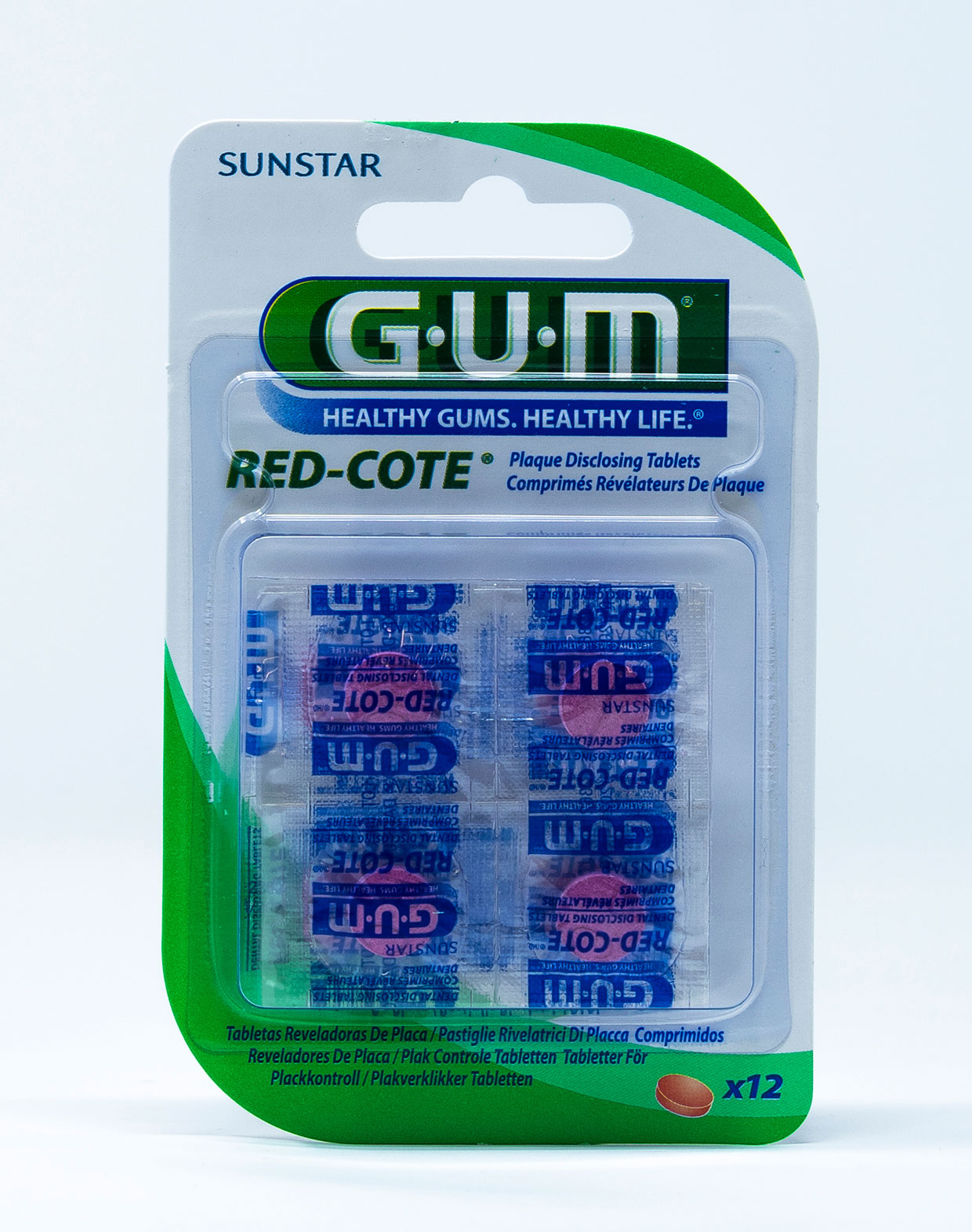 Gum Pastiglie Rivela Placca Red-Cote - 12 pz