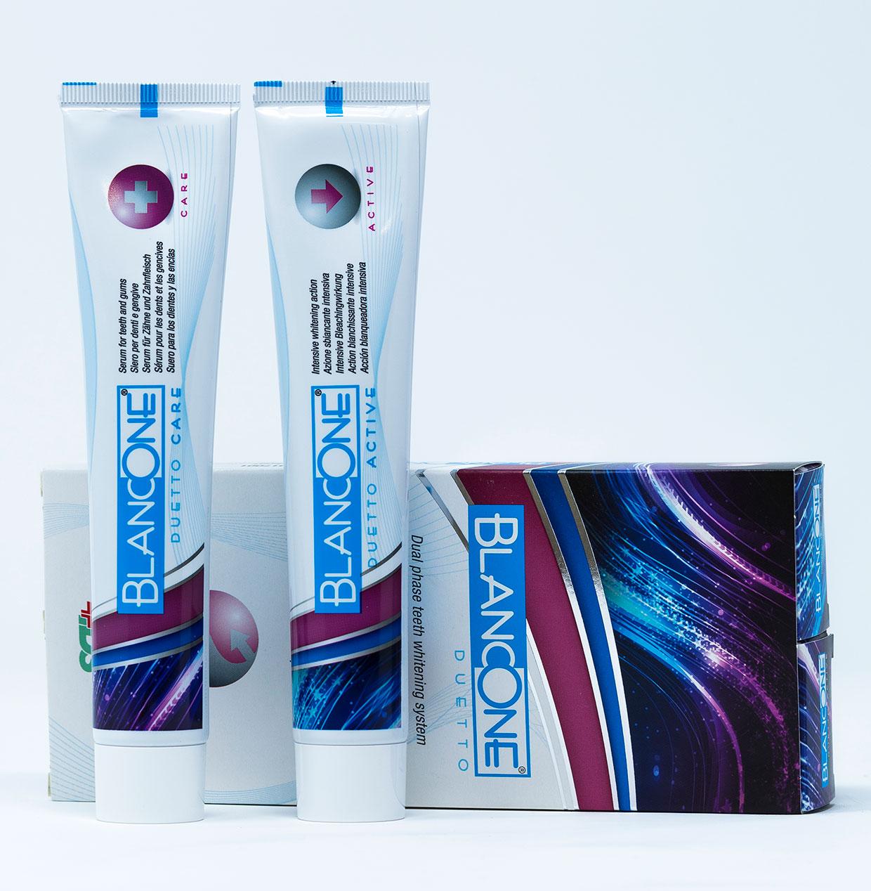 Blancone  Dentifricio Duetto - 2 tubi x 75 ml