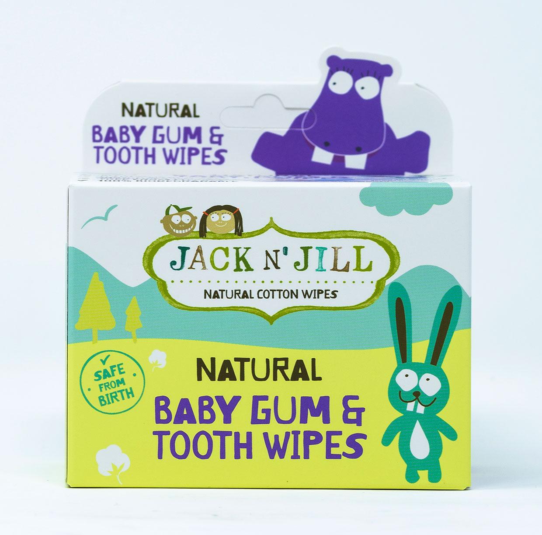 Jack N'Jill Salviettine in cotone per denti e gengive - 25 pz