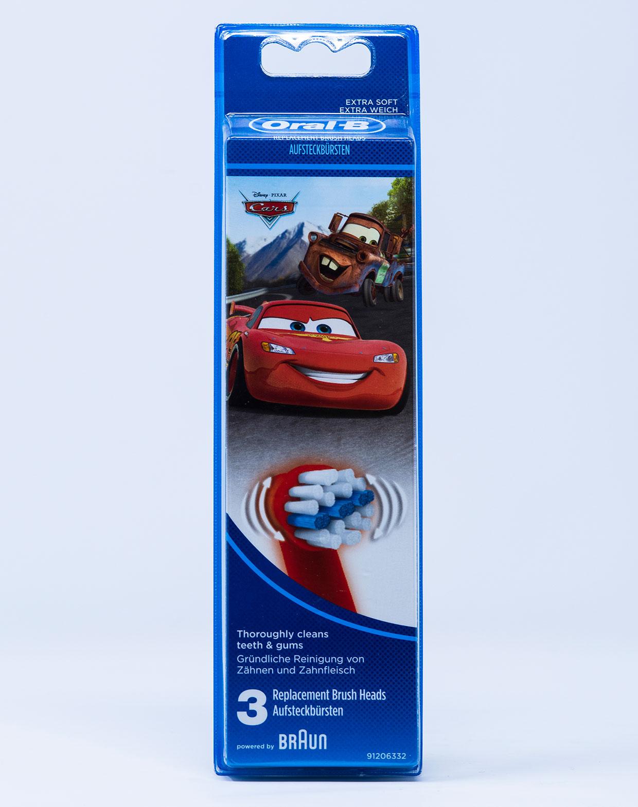 OralB Testina di Ricambio Stages Cars – 3 pz.