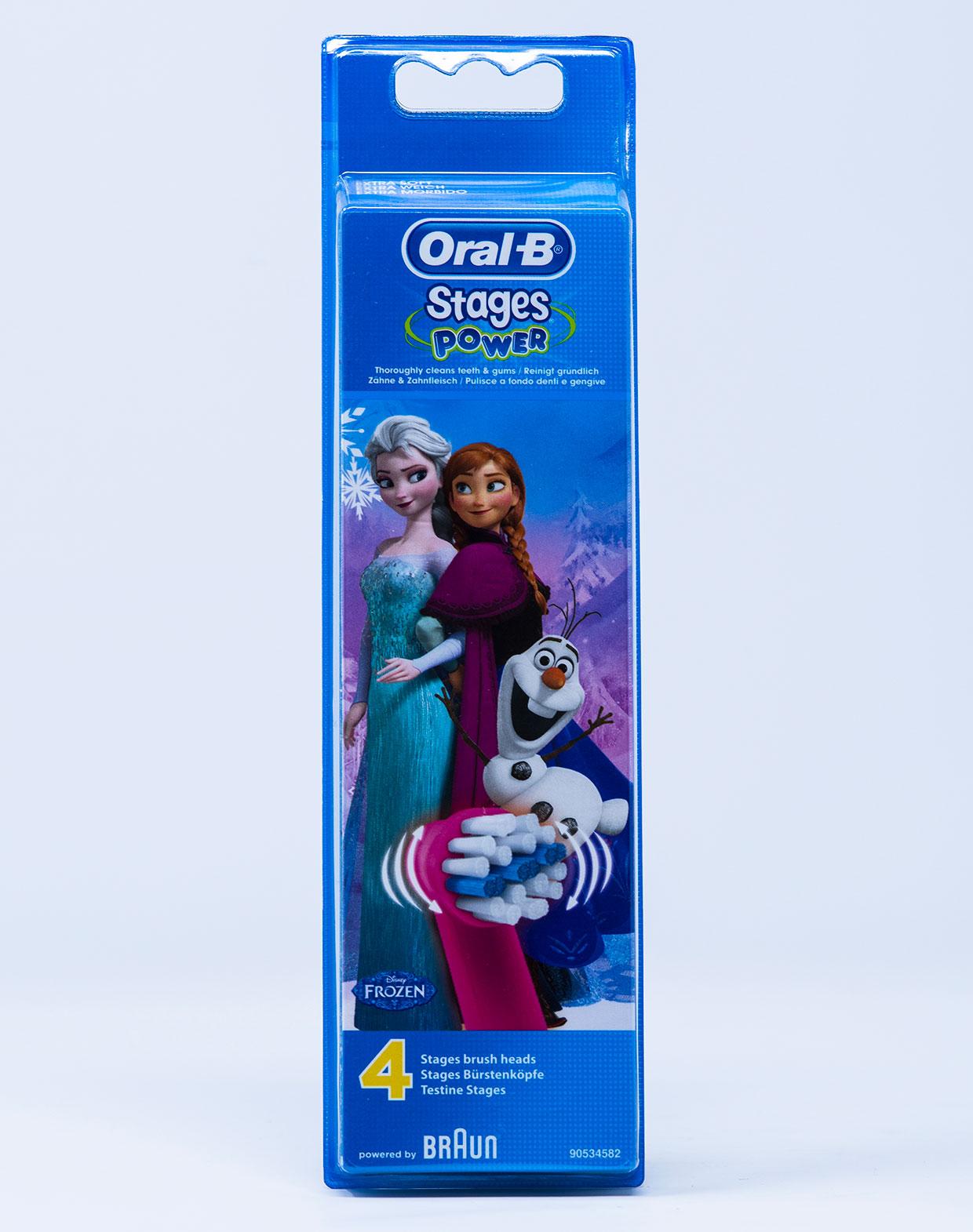 OralB Testina di Ricambio Stages Frozen – 4 pz.
