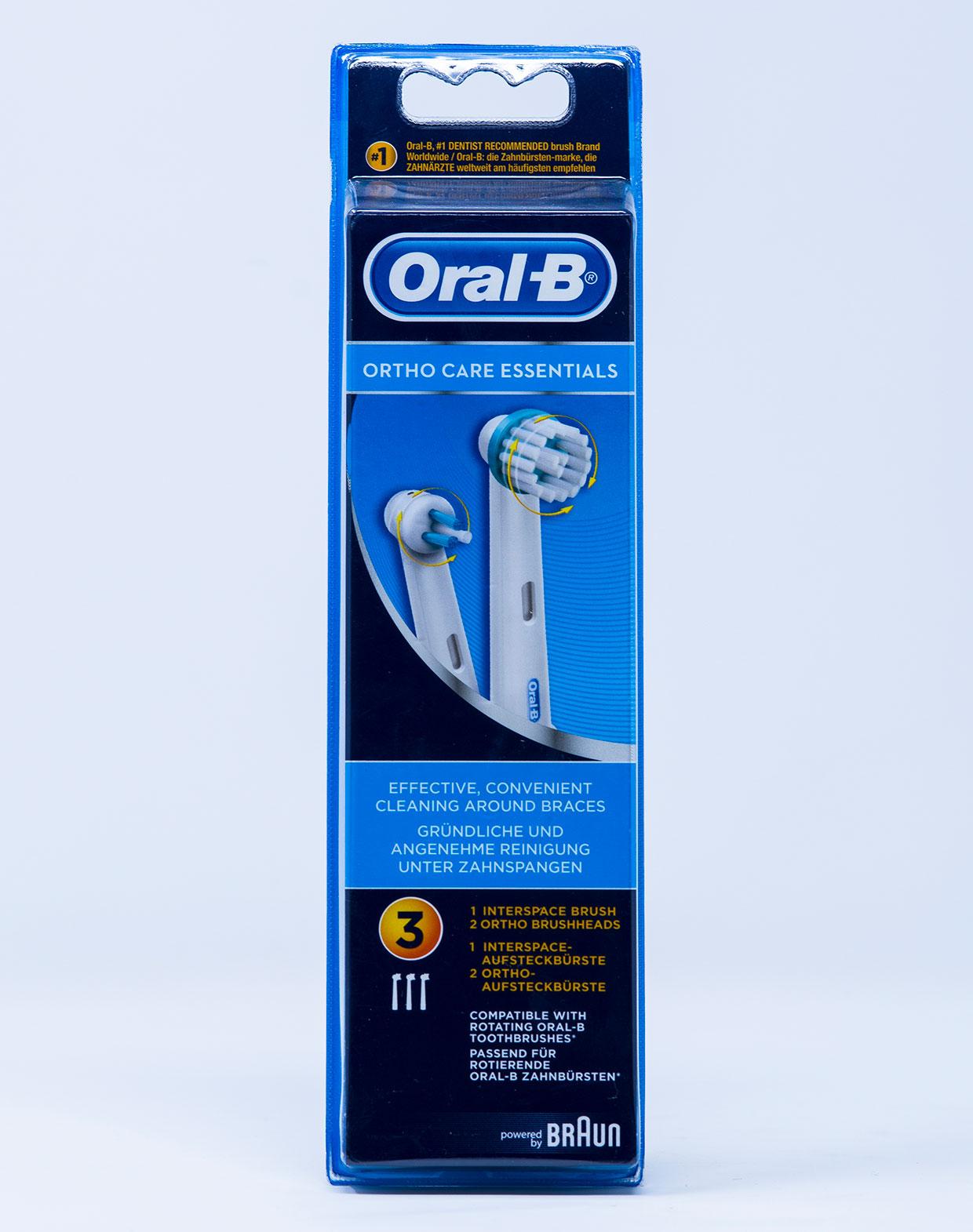 OralB Testina di Ricambio Ortho Care Essential – 2+1 pz.