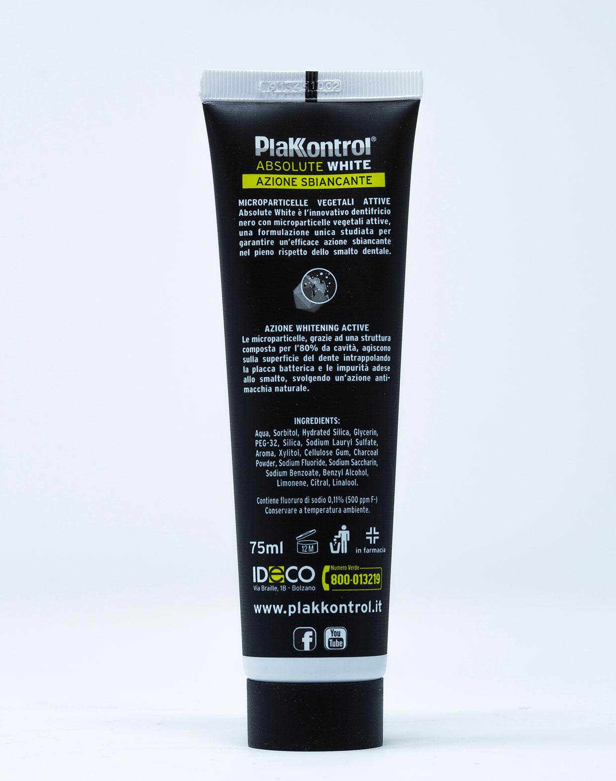 Plakkontrol Dentifricio Absolute White – 75 g