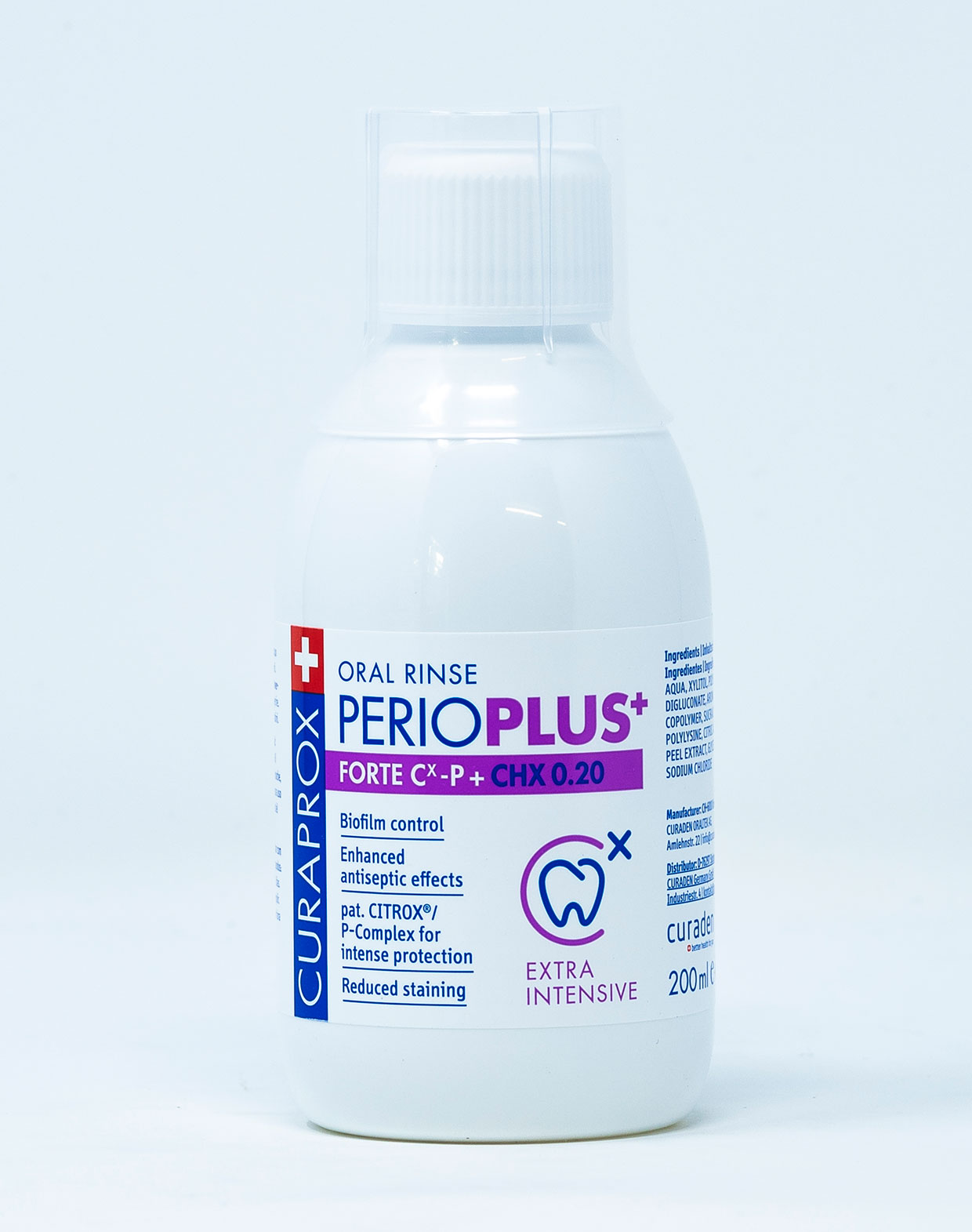 Curaprox Collutorio Perio Plus+ Forte CHX 0,20% - 200 ml