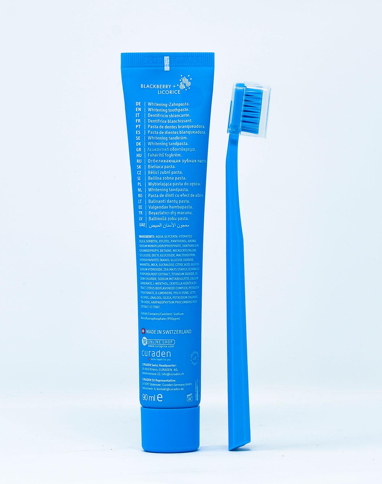 Curaprox Dentifricio [BeYou] Daydreamer Mora e Liquirizia - 90 ml + 1 Spazzolino Manuale
