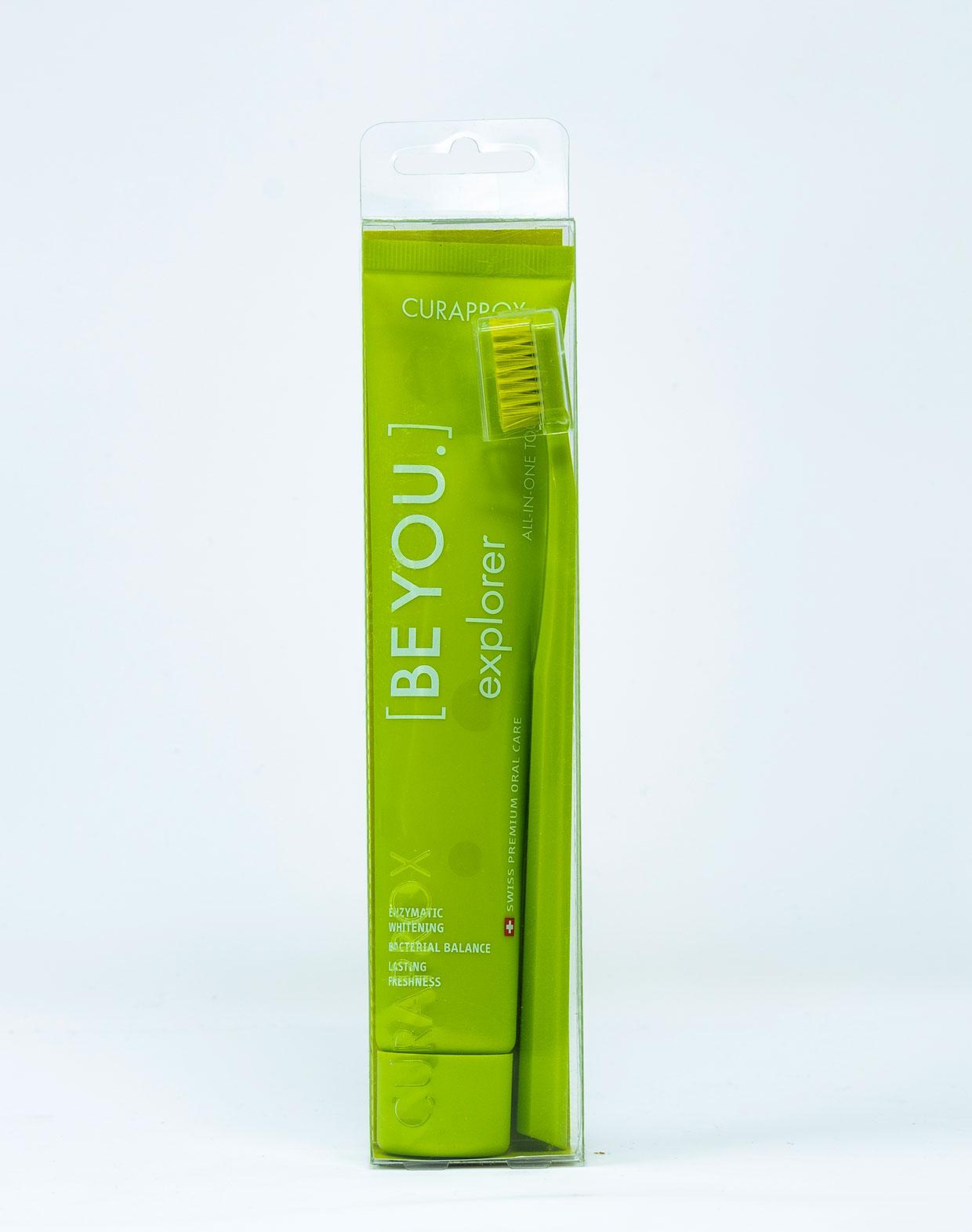 Curaprox Dentifricio [BeYou] Explorer Mela e Aloe - 90 ml + 1 Spazzolino Manuale