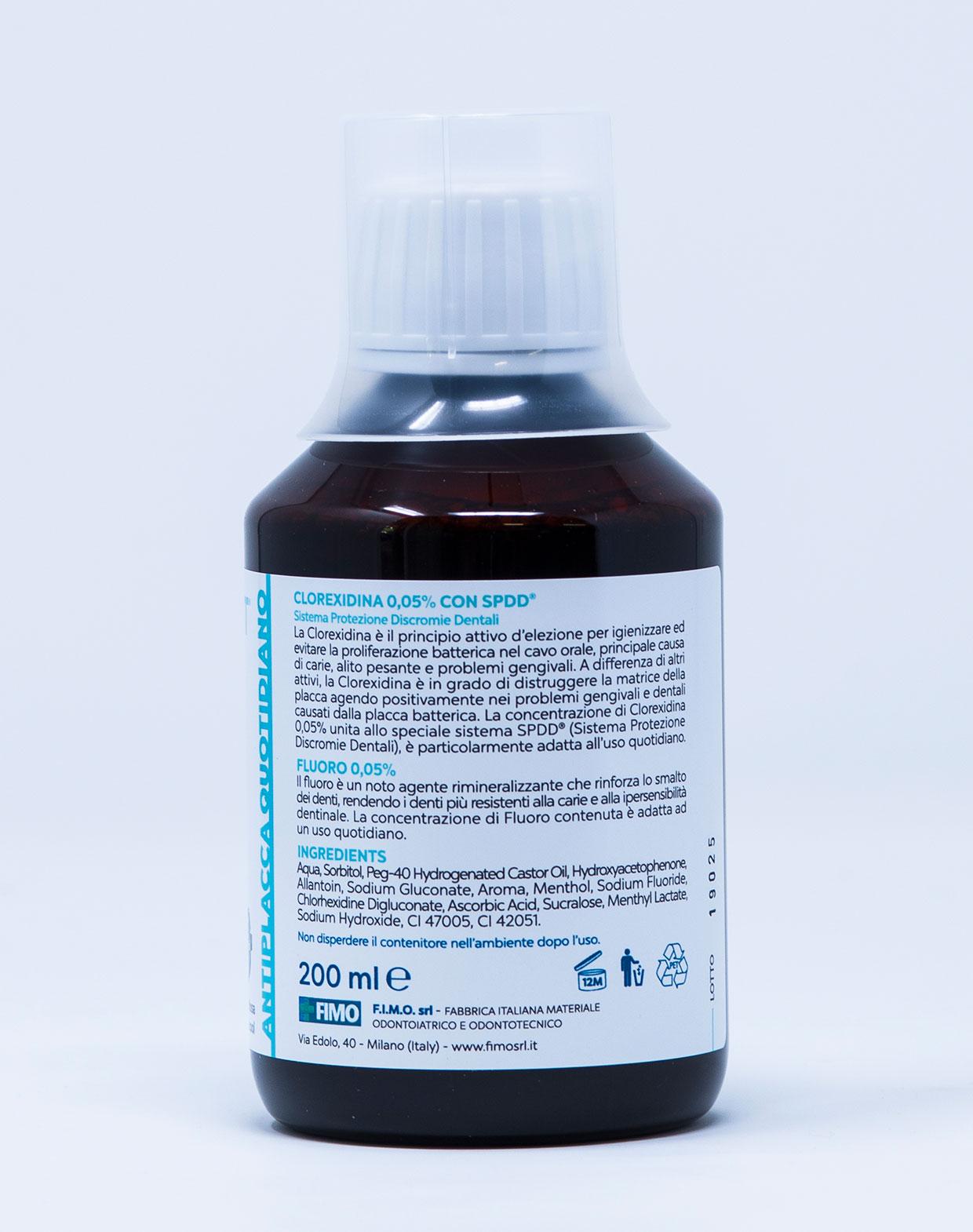 Fimo FimoDent Collutorio Antiplacca Quotidiano CHX 0,05% + Fluoro 0,05% - 200 ml