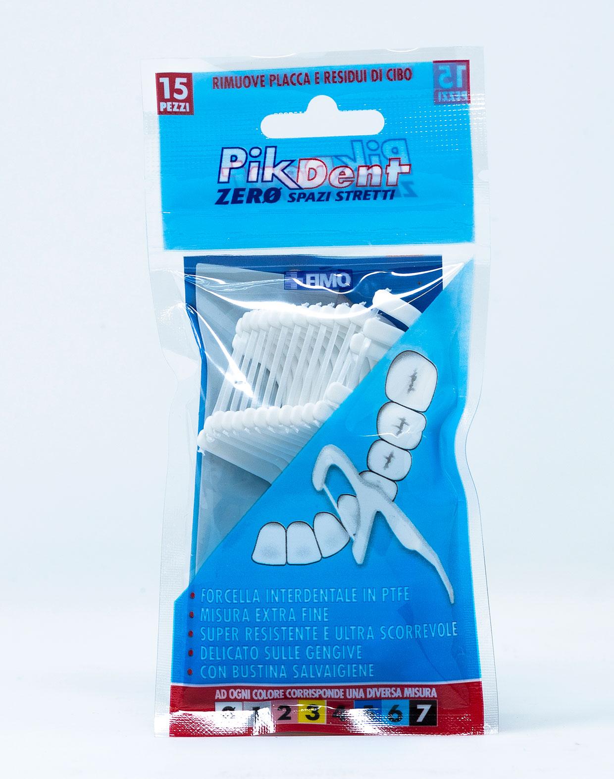 Fimo Pikdent Forcelle Zero Spazi Stretti - 15 pz + 1 Bustina Salvaigiene