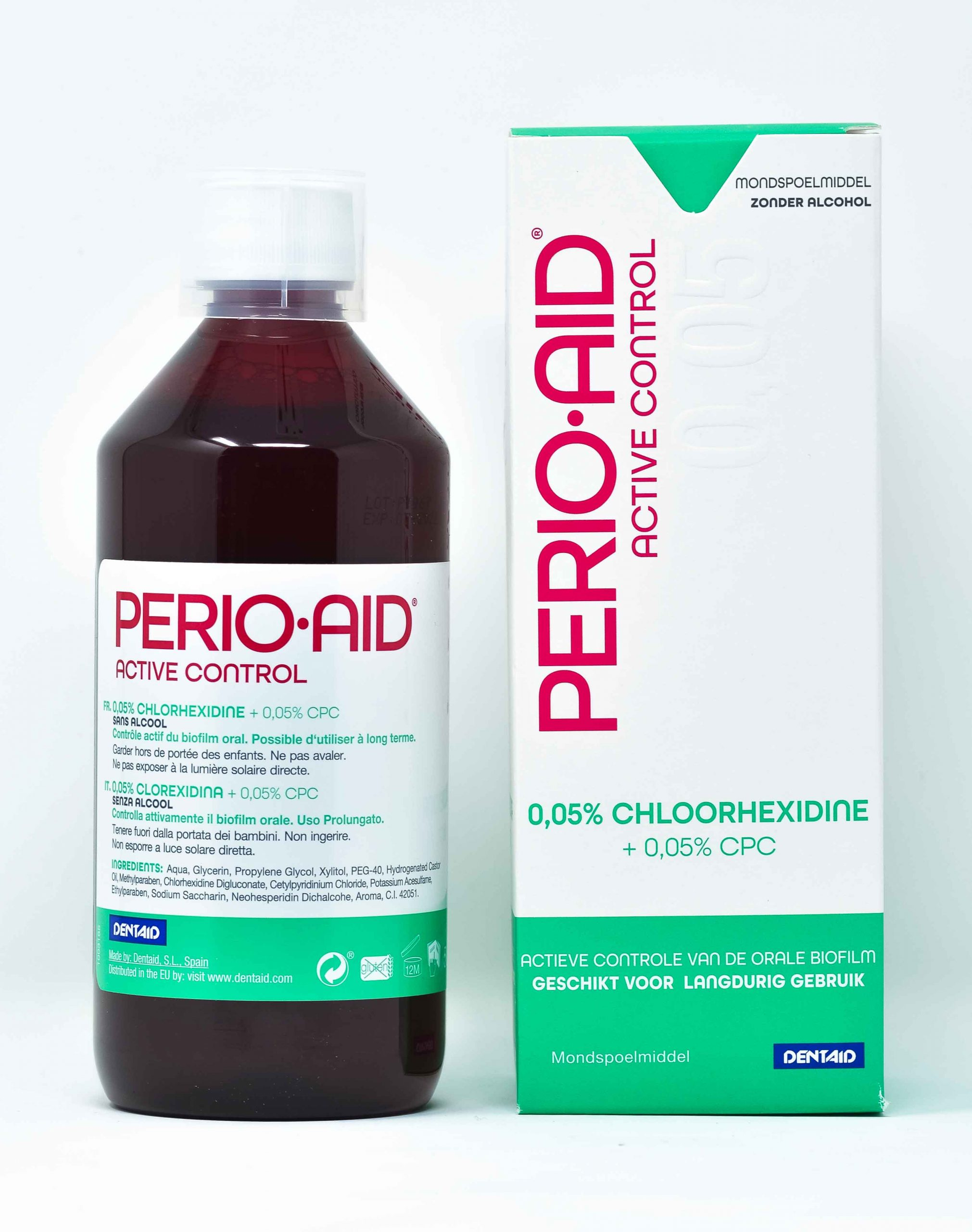 Dentaid Collutorio Perio Aid Active Control CHX 0,05% + CPC 0,05% - 500 ml