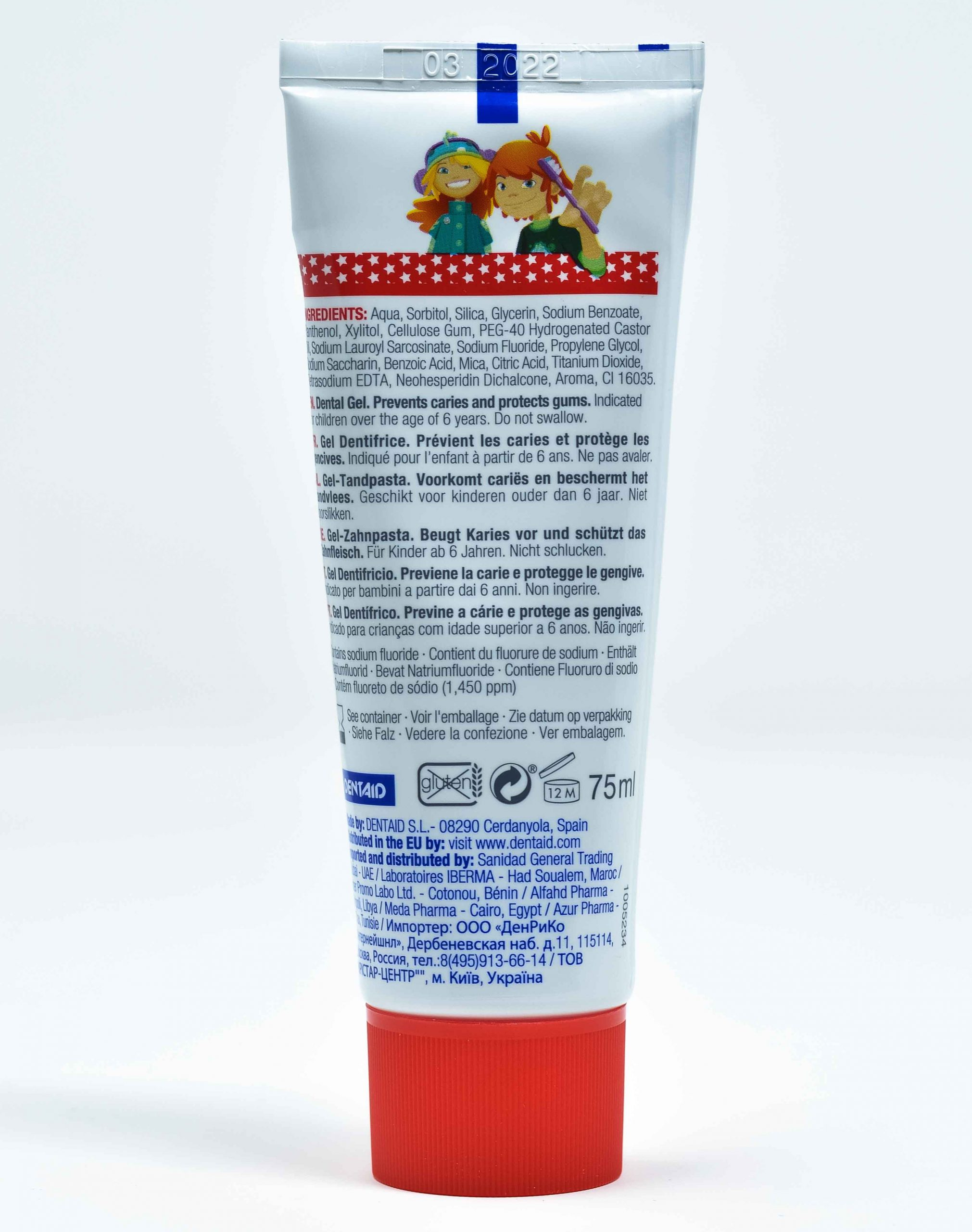 Dentaid Dentifricio Vitis Junior Gel 6- 12 anni- 75 ml