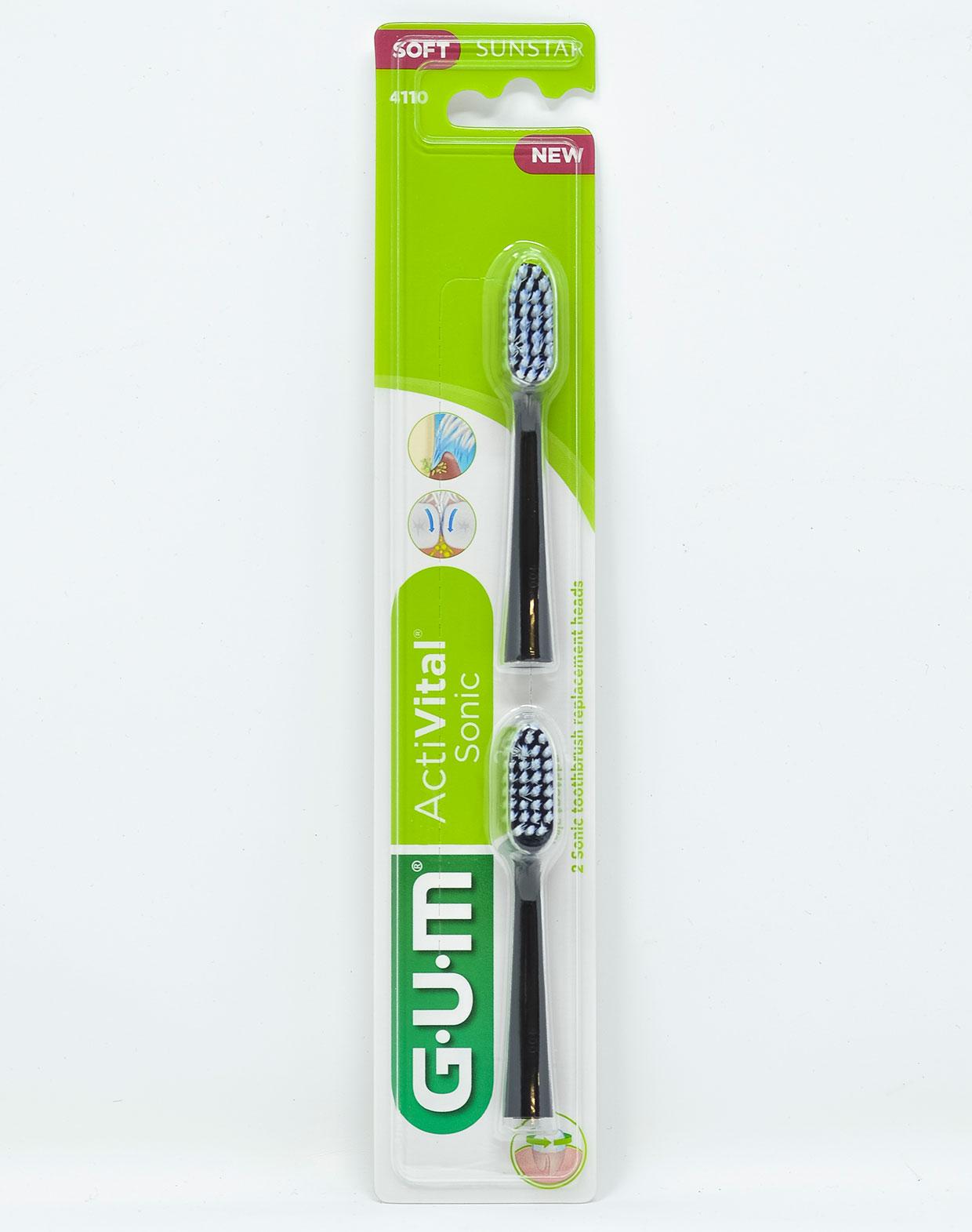 Gum Testina di Ricambio Spazzolino Sonico Gum ActiVital - 2 pz