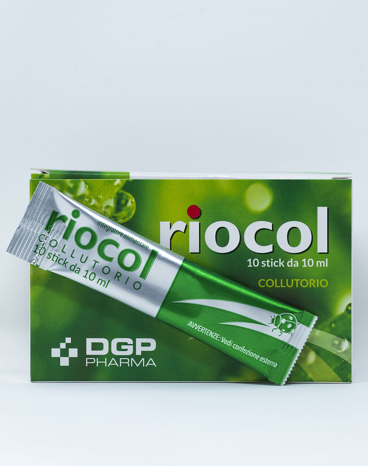 Riocol Stick Collutorio Integratore Alimentare in Bustina - 10 pz x 10 ml