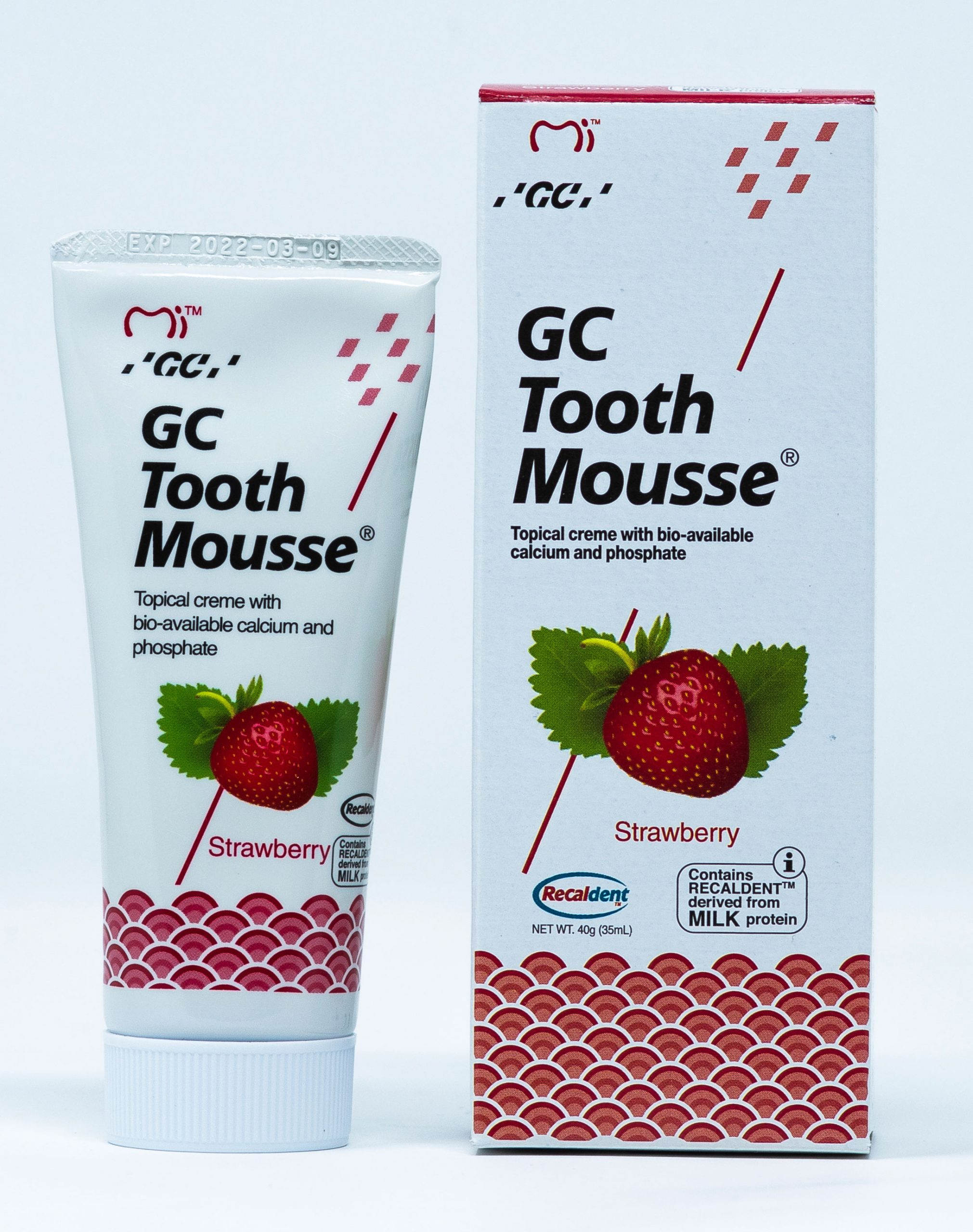 GC Crema Remineralizzante Tooth Mousse Fragola - 40 g