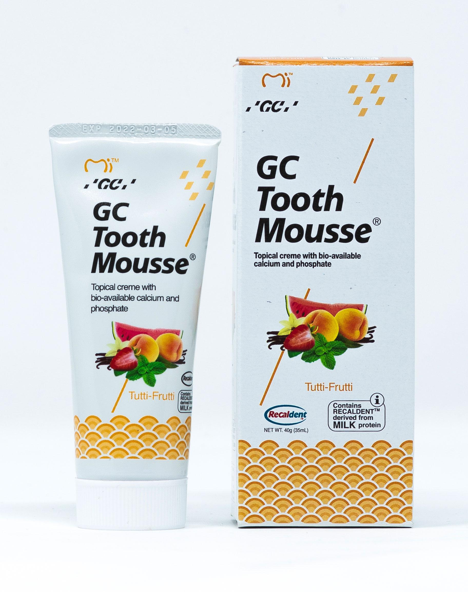 GC Crema Remineralizzante Tooth Mousse Tutti Frutti - 40 g