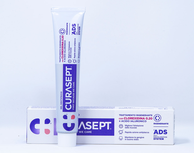 Curasept Dentifricio ADS Trattamento Rigenerante 0,20% Con Acido Ialuronico - 75 ml