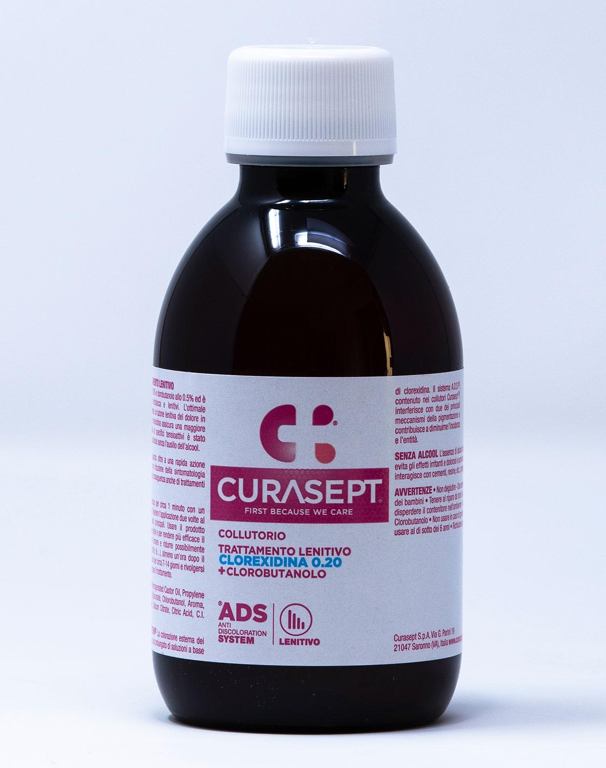 Curasept Collutorio ADS Trattamento Lenitivo 0,20% Con Clorobutanolo  - 200 ml