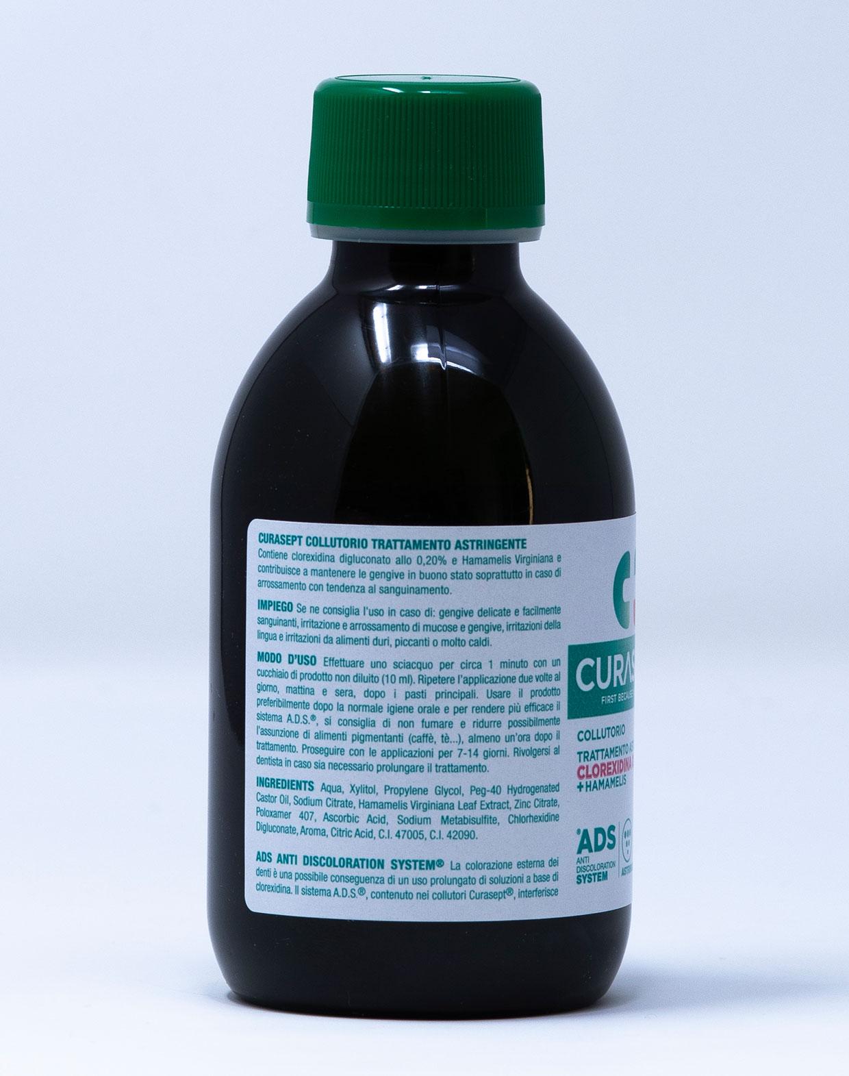 Curasept Collutorio ADS Trattamento Astringente 0,20% Con Hamamelis - 200 ml