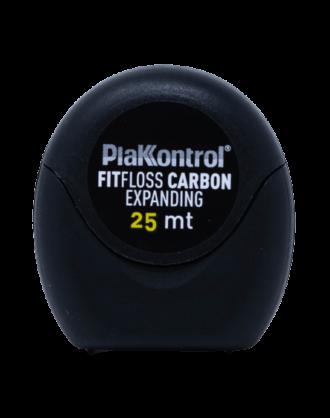 Plakkontrol Filo Interdentale Fit Floss Carbon Expanding - 25 m