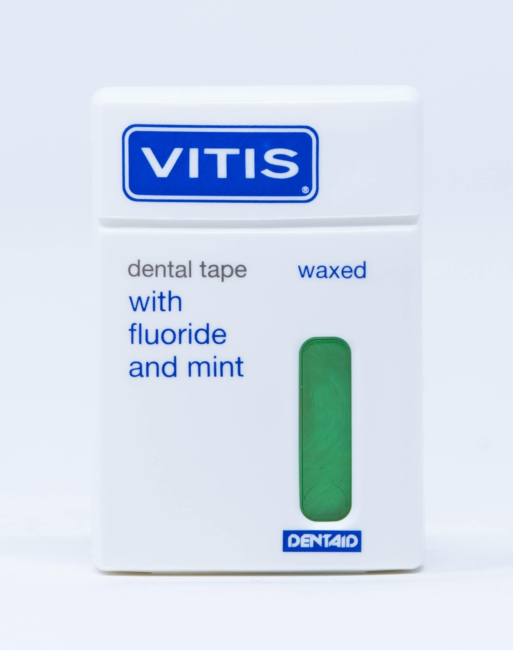 Dentaid Filo Interdentale Vitis Dental Tape Con Cera Fluoro e Menta - 50 m