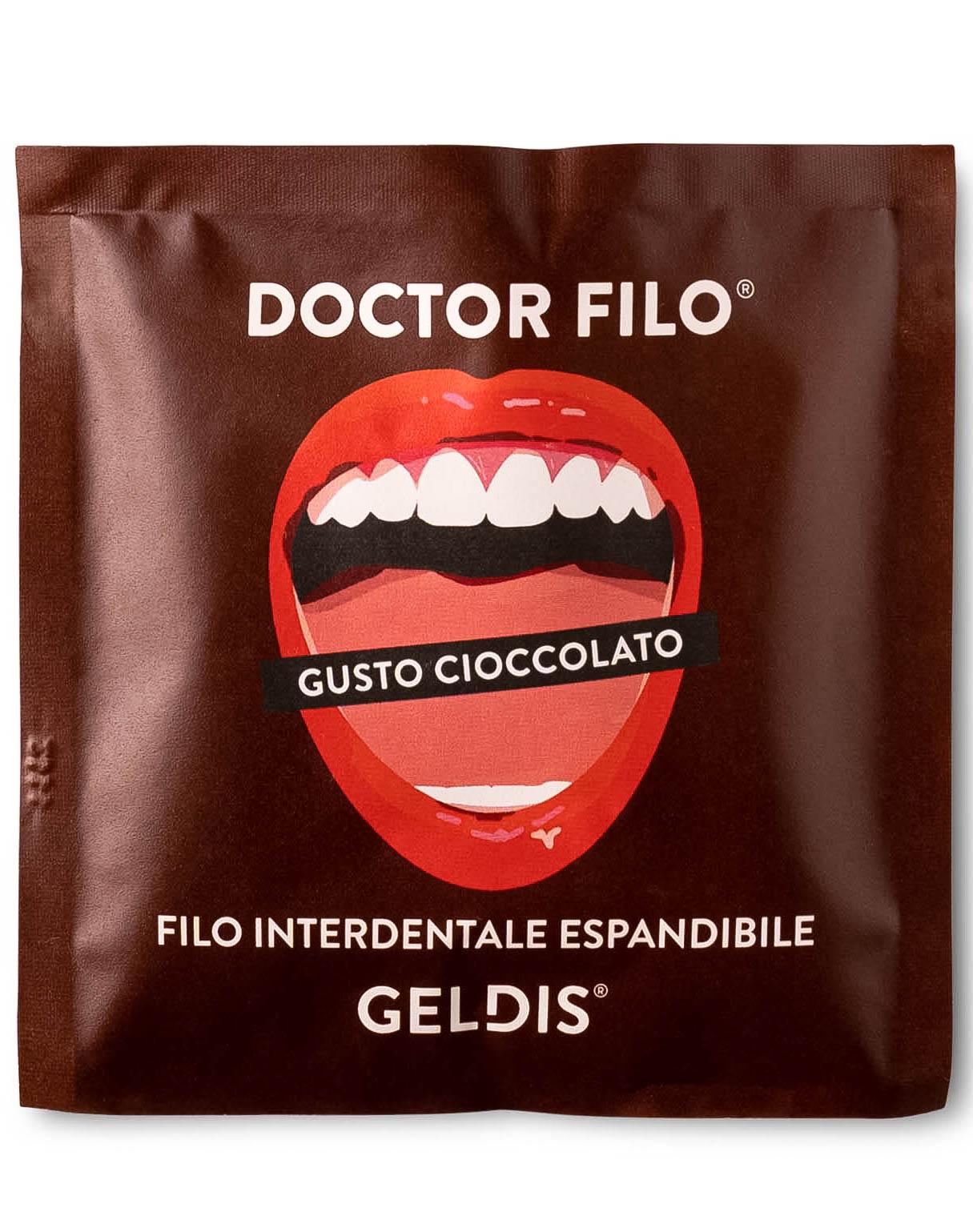 Geldis Doctor Filo Filo Interdentale Espandibile al Cioccolato – 30 mt