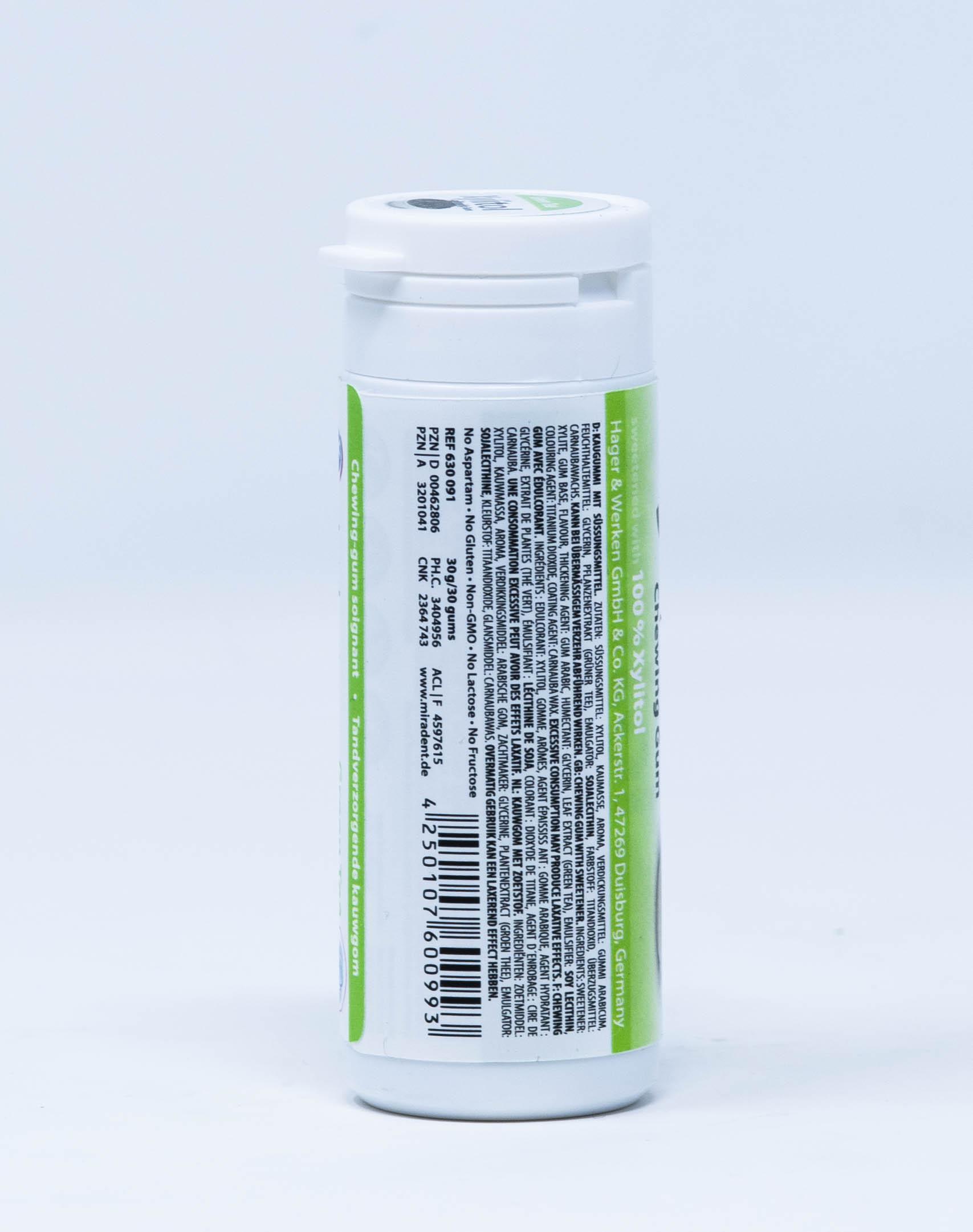 Miradent Gomme da Masticare allo Xilitolo - Gusto Tè Verde