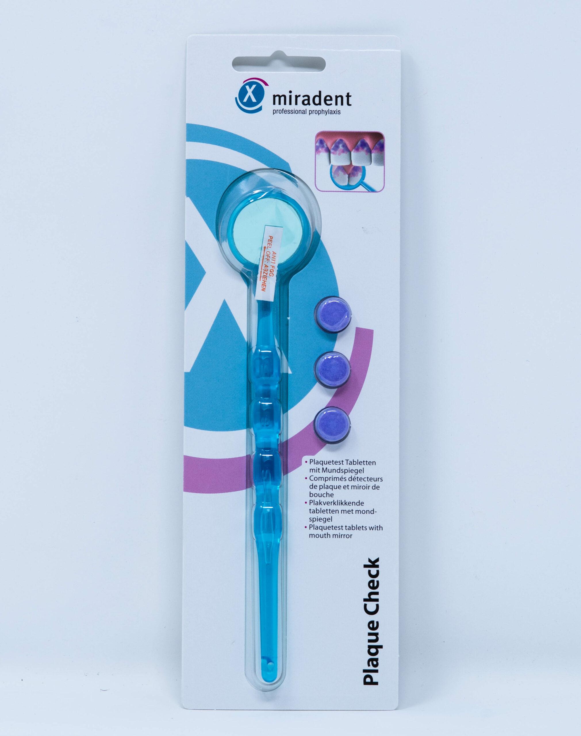 Miradent Plaque Check Kit - Specchietto e Pastiglie Rivela Placca